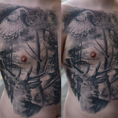 wild-chest-piece-tattoo